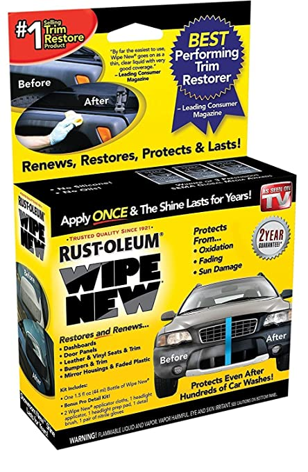 086ede231349 Amazon.com  Wipe New Trim Restorer  Automotive