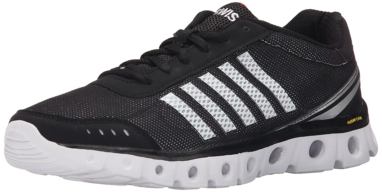 K-Swiss Men's X Lite Athletic CMF Athletic Shoe B0113OC2IY 10.5 D(M) US|Black/White/Fiery Red