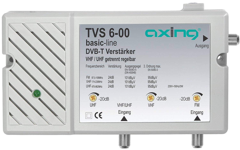 Axing TVS 6-00 amplificateur multibande d'antenne terrestre pour TNT et FM Décodeur Satellite
