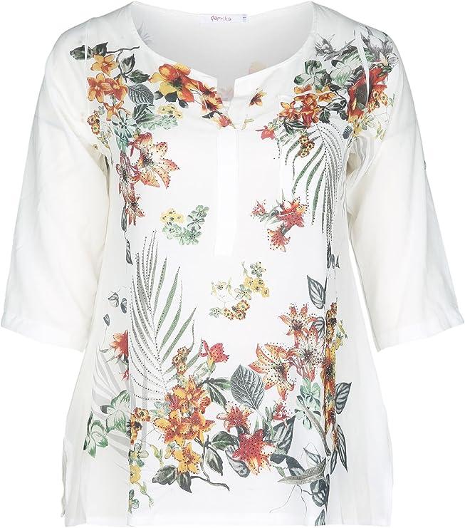 PAPRIKA - Camisas - para mujer blanco roto 48: Amazon.es: Ropa y accesorios