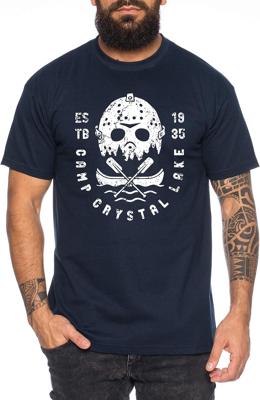 Crystal Lake - Camiseta de Hombre Halloween Michael Horror Myers Pennywise Man 13 Jason Voorhees Nightmare: Amazon.es: Ropa y accesorios