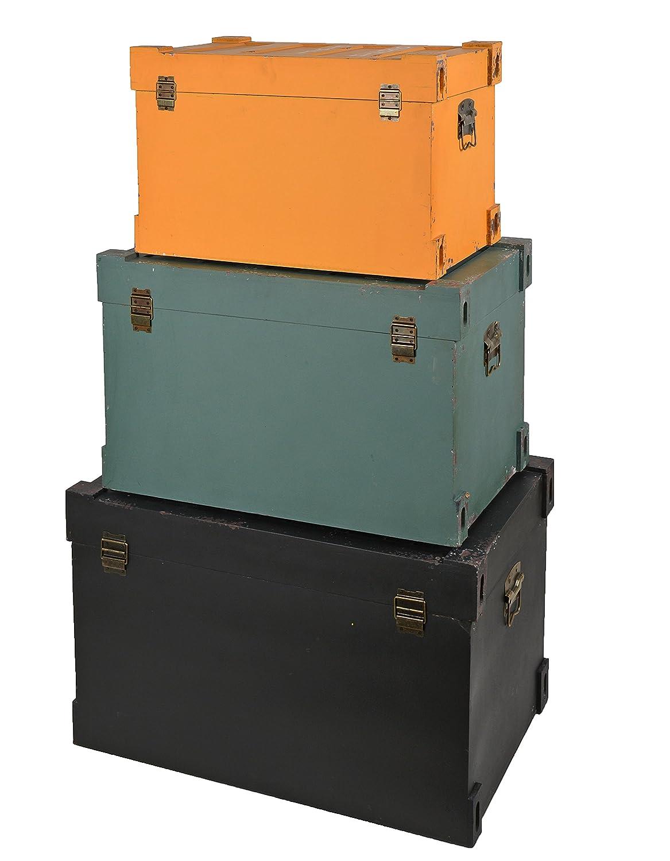 ts-ideen 3er Set Container Industrie Design Kommode Schrank ...