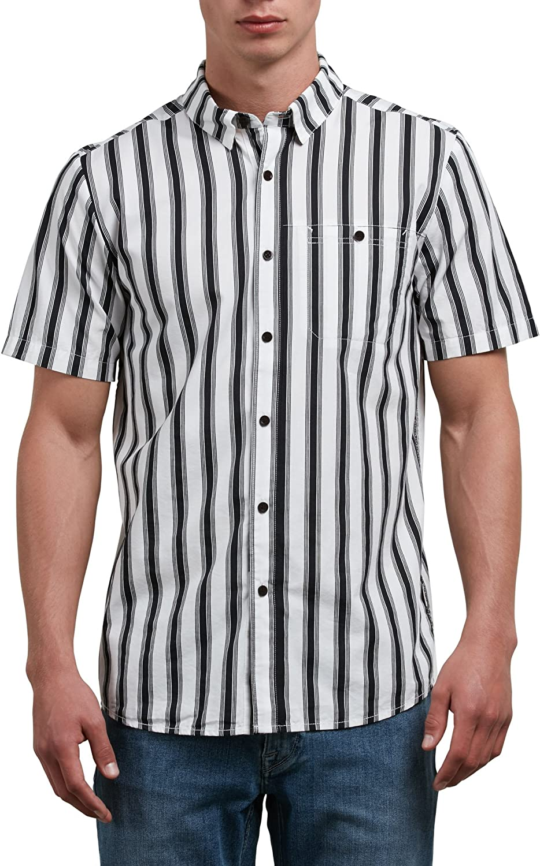 White Volcom Trenton Short Sleeve Button-Up