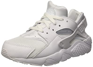 b600356634779 NIKE Huarache Little Kids Running Shoes White Pure Platinum 704949-110 (1 M