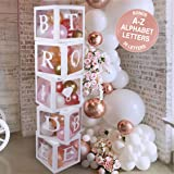Bridal Shower Decorations Balloon Boxes White- 70pcs Transparent Block with Bride to BE + Groom Letters and 40 Balloons…
