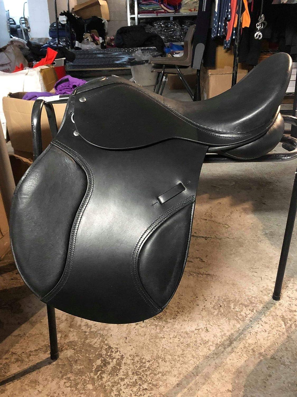 Equipride Leather GP Saddle Jump Saddle Wooden Tree Size 17' - 17.5' Black (17')