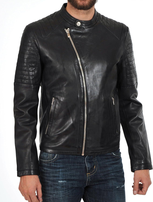 Kingdom Leather Mens Genuine Lambskin Leather Jacket Slim Fit Moto Biker Jacket X210