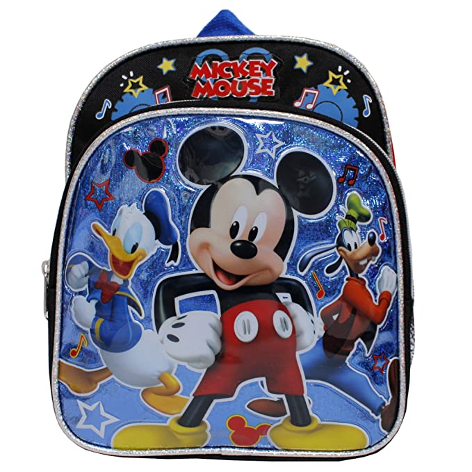 0f413906d29d Image Unavailable. Image not available for. Color  Disney Mickey Mouse  Black Boys  Small Toddler Backpack