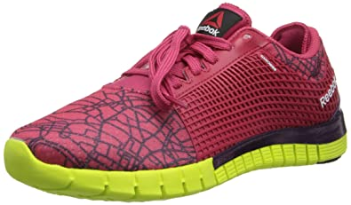 Reebok Women's Zquick City Running Shoe,Magenta PopPortrait PurpleSolar Yellow,
