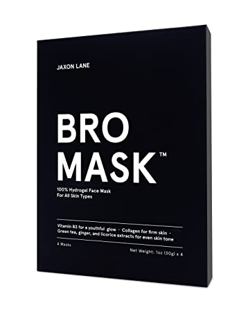 JAXON LANE BRO MASK 100 Hydro Gel 2-Piece Facial Sheet Mask Box of 4