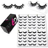 Eliace 6D Mink Eyelashes Wholesale 30 Pairs 10 DIFFERENT Styles Fake Eyelashes Mink Fluffy Volume Eyelashes Natural Look Wisp
