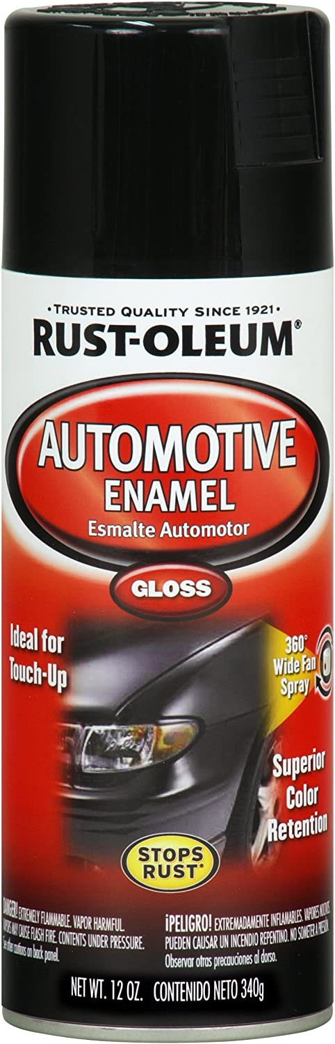 Rust-Oleum Available 252462 Automotive 12-Ounce Enamel Spray Paint, Gloss Black