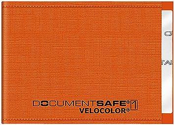 Veloflex 3271330 Document Safe Kartenhülle Kreditkartenhülle Rfid Nfc Schutz Rfid Blocker 90 X 63mm Orange Bürobedarf Schreibwaren