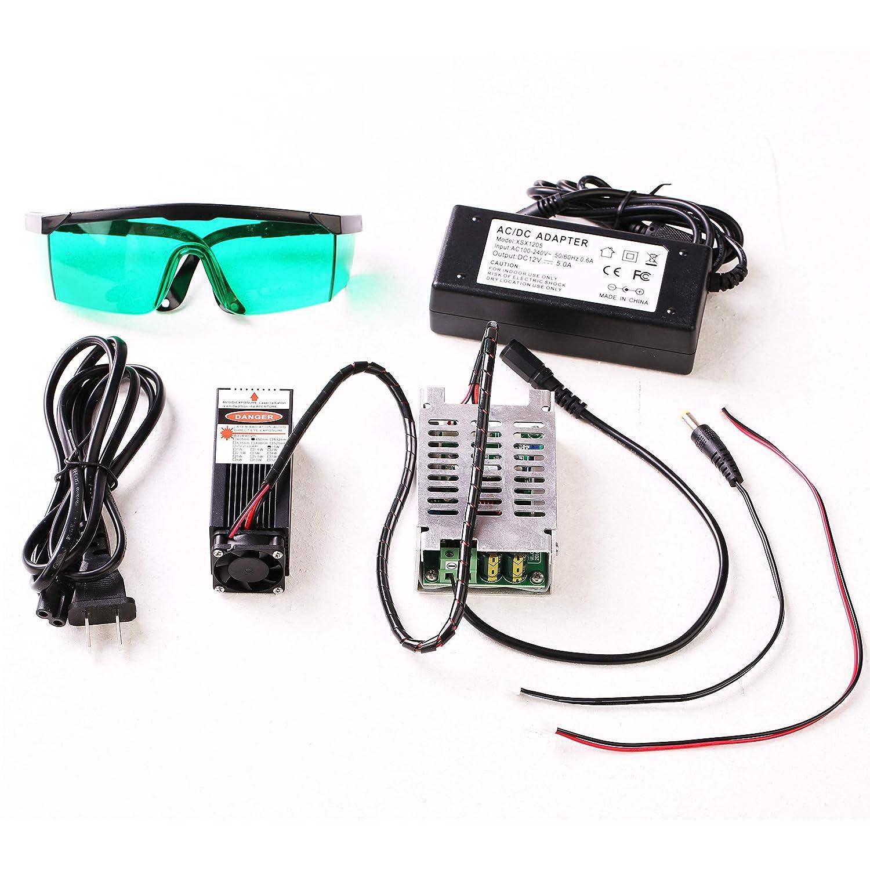 Módulo láser azul 450 nm 15 W enfocable para impresora 3D/CNC ...