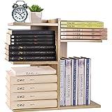 YCOCO Desktop Shelf Bookshelf,Wood Countertop Bookcase Storage Display Rack,Office Supplies Desk Organizer,Desk…