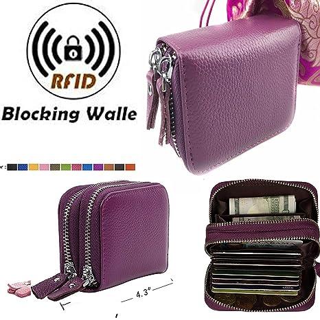 Bloqueo RFID piel tipo cartera para las mujeres, más reciente tarjeta de Crédito seguridad RFID
