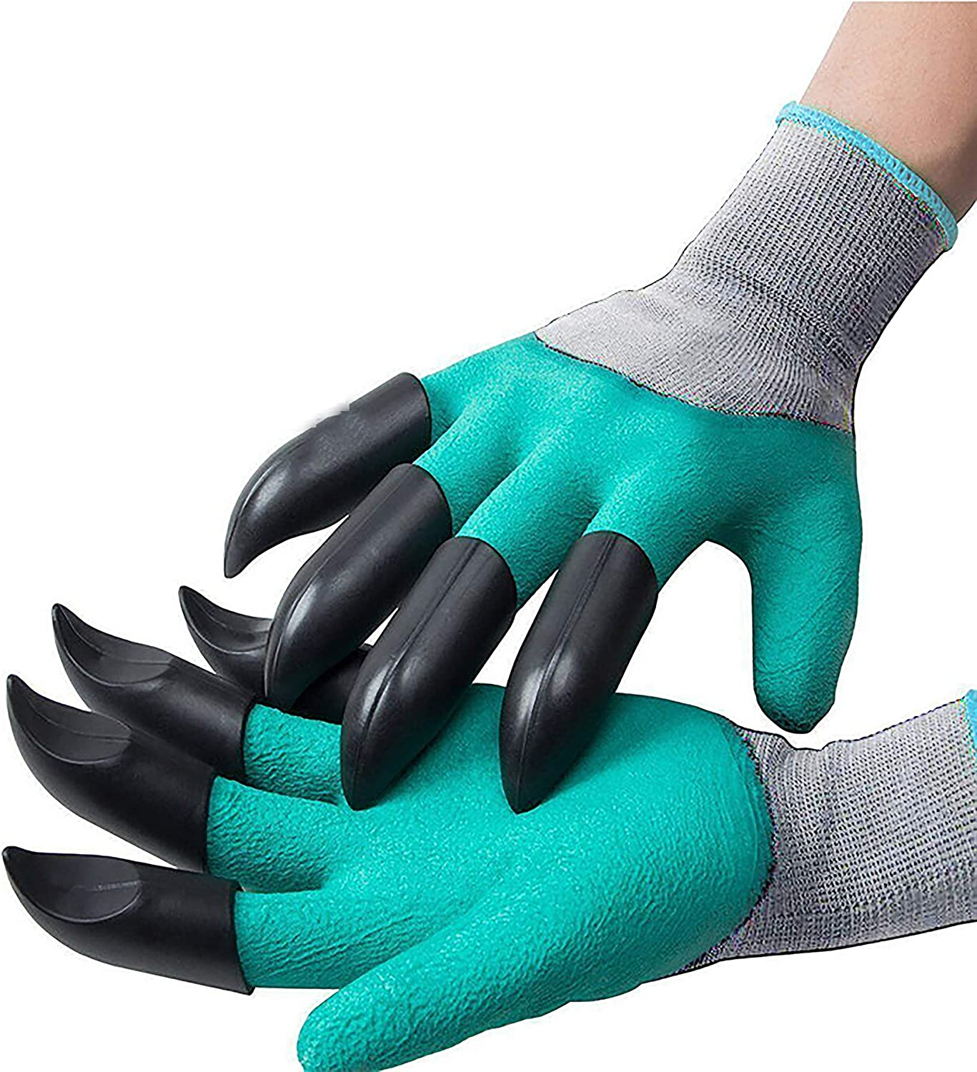Green Garden Gloves with Genie Claws Waterproof Gloves 1 Pair