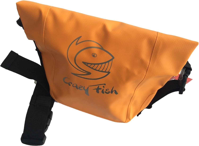 Crazy-Fish H/üfttasche Dry-Bag G/ürteltasche wasserdicht Rollverschluss Apricot Orange