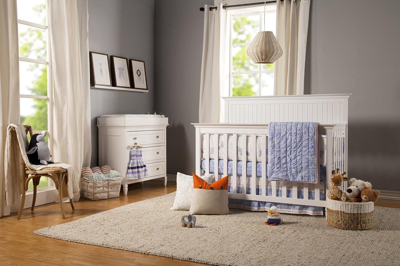 DaVinci Perse 4-in-1 Convertible Crib in White Finish