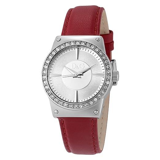 D y G DW0526 D y G Dolce y Gabbana Sundance esfera de plata reloj de pulsera de mujer: Amazon.es: Relojes