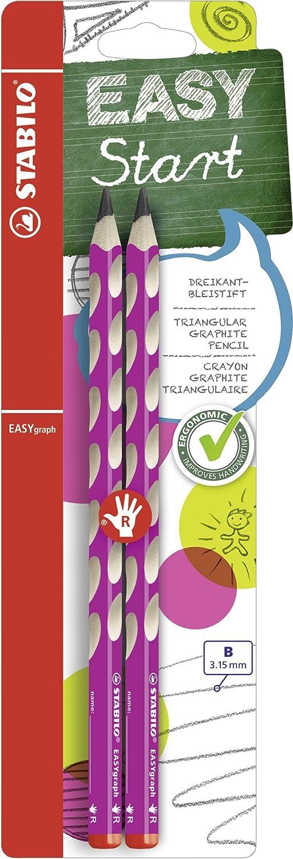 Triangolare della matita –  STABILO Easygraph in Pink –  durezza B –  Confezione da –  per destrimani B-51504-10