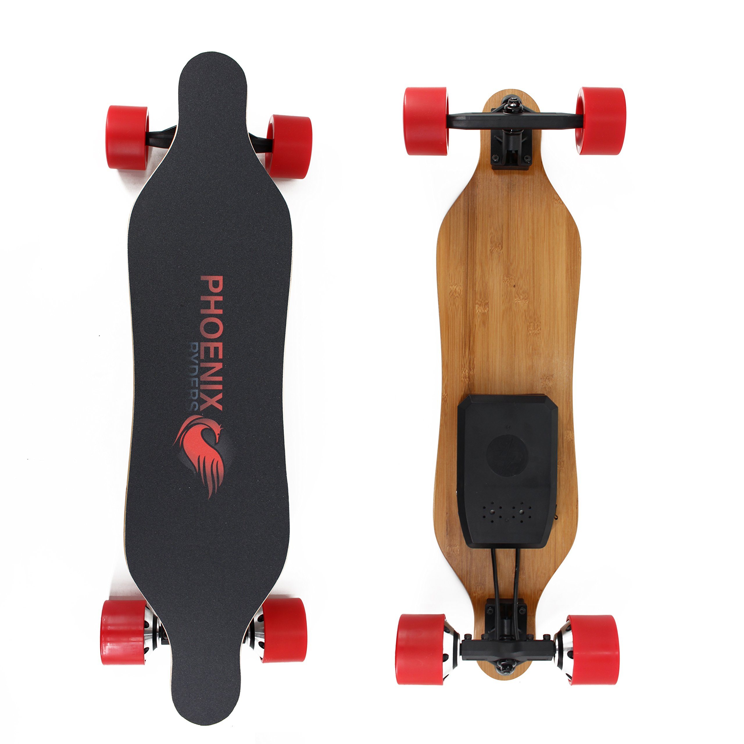 PHOENIX RYDERS Electric Skateboard 4.4AH Lithium Battery,Dual Motor Each 350W, 32 Inches Maple with Remote Control by Alouette