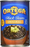 Ortega Black Beans, Original Flavor, 15 Ounce (Pack of 12) (Packaging May Vary)