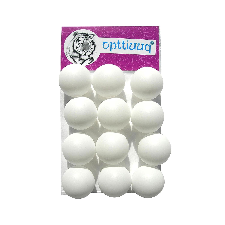 12 x Practice Quality Opttiuuq Qvu Plain White (logo free) Table Tennis Balls. 40mm. Multipacks