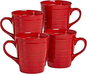 overandback Circo Red Mugs, Set of 4