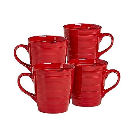 amazon com overandback 816309 circo mugs set of 4 red coffee