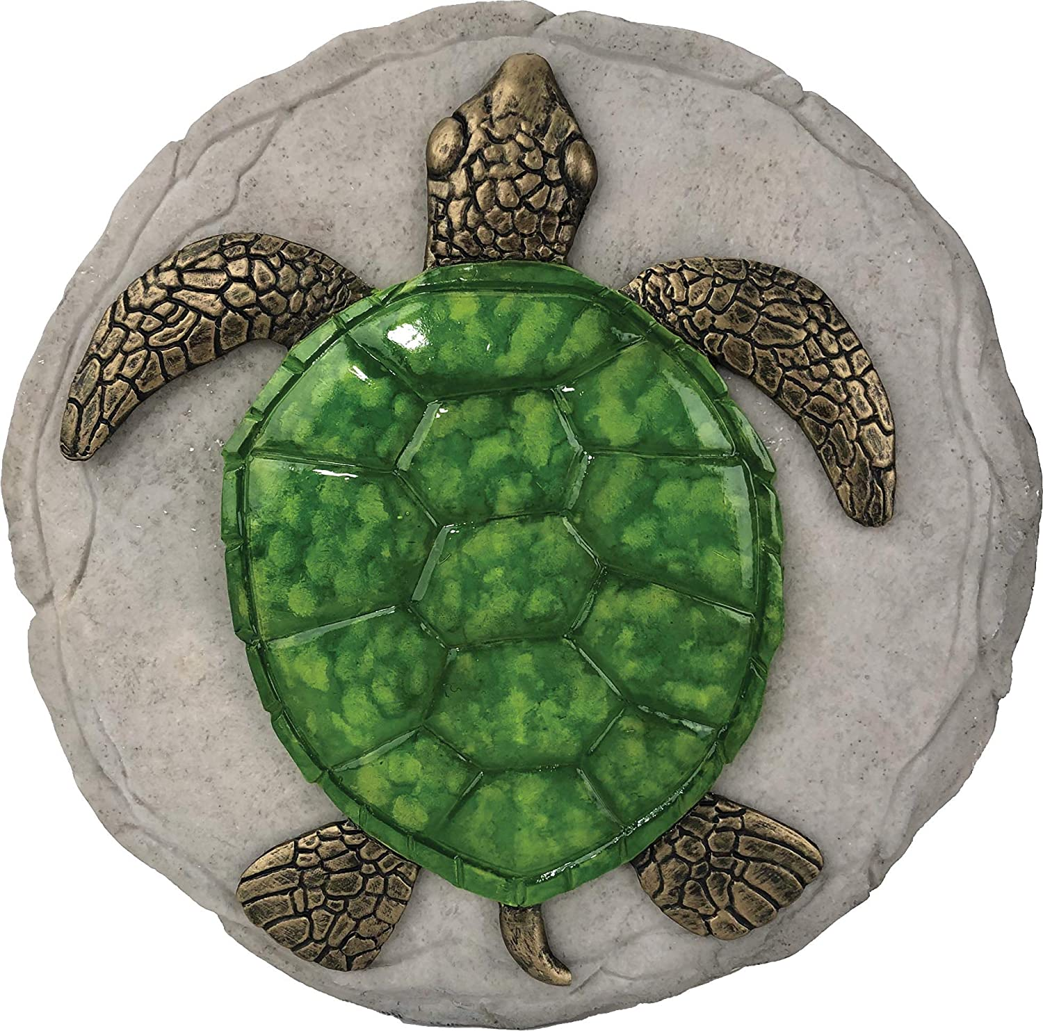 Spoontiques 13223 Turtle Stepping Stone, Green