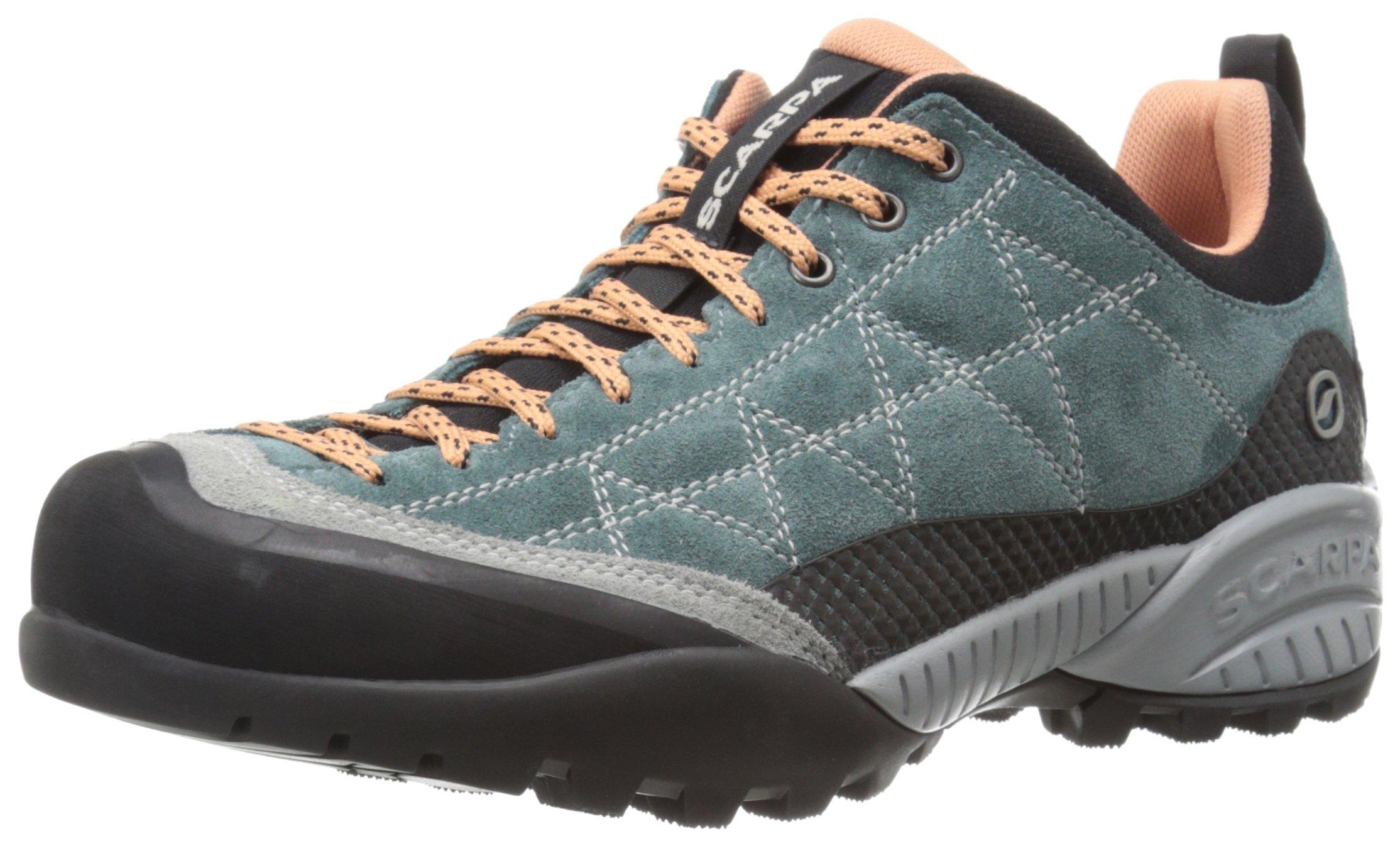 Scarpa Women's ZEN Pro Hiking Shoe, Nile Blue/Salmon, 41 EU/9 M US