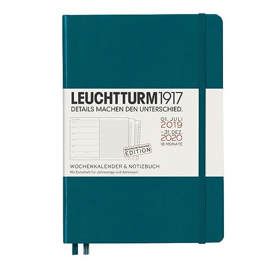 Agenda y cuaderno 2020, tapa dura, A5, 18 meses, color verde ...