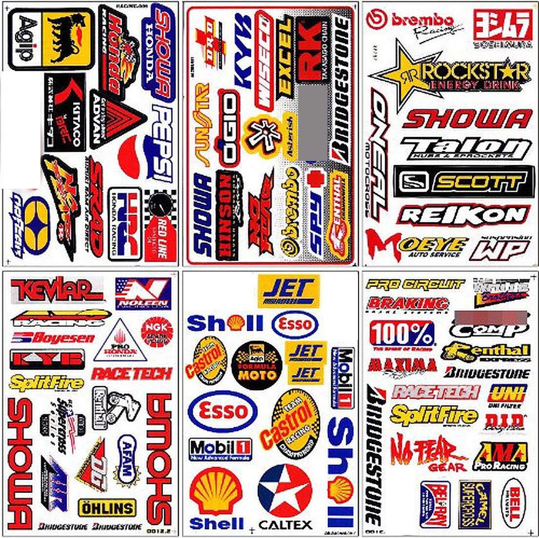 Motocross Dirt Bike Decal Kit Logo Sticker Decor No Fear #Dd12-3