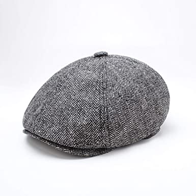 b32d7ea6c0b9a Sivane Man Octagonal Hat Wool Felt Beret Casual Painter Cap Autumn and Winter  Ivy Hat Male