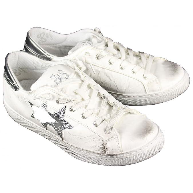 Herren Sneaker Weiß Bianco, Weiß - Bianco - Größe: 43 EU 2Star
