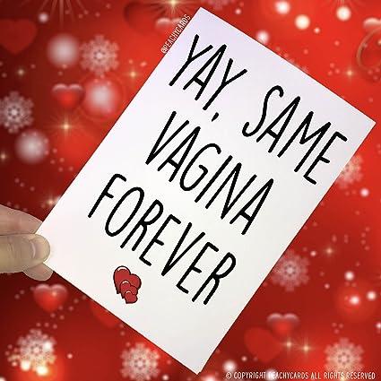 Tarjeta de felicitación Yay Same Vagina Forever Tarjeta de ...