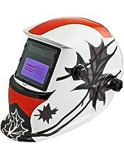 Instapark ADF Series GX-350S Solar Powered Auto Darkening Welding Helmet with Adjustable Shade Range #9 - #13 (Canadian Maple Leaf)