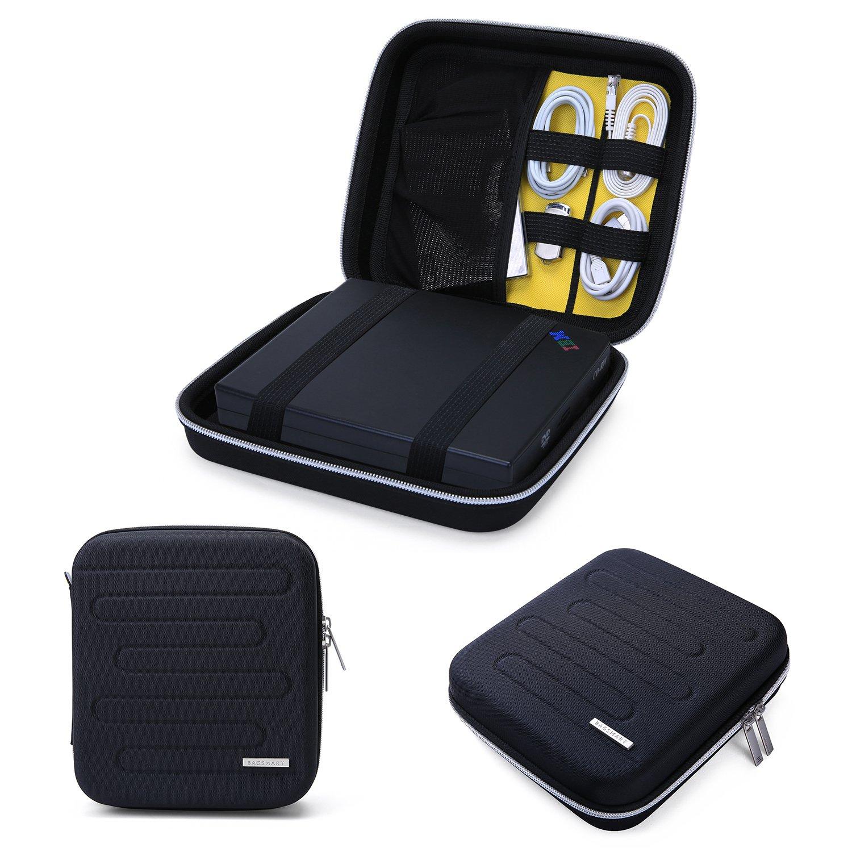BAGSMART EVA Shockproof External DVD Drives Carrying Bag Hard Drive Case Travel Electronic Organizer Bag, Large Size by BAGSMART