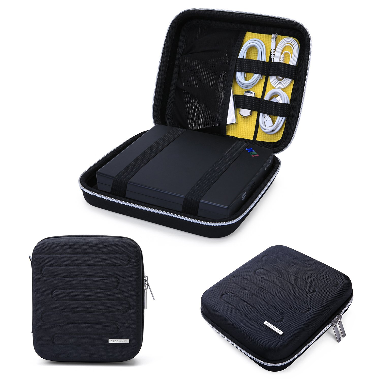 BAGSMART EVA Shockproof External DVD Drives Carrying Bag Hard Drive Case Travel Electronic Organizer Bag, Large Size