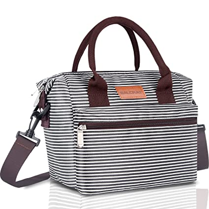 c88d2405a5 BALORAY Lunch Bag for Women Insulated Lunch Box with Adjustable Shoulder  Strap