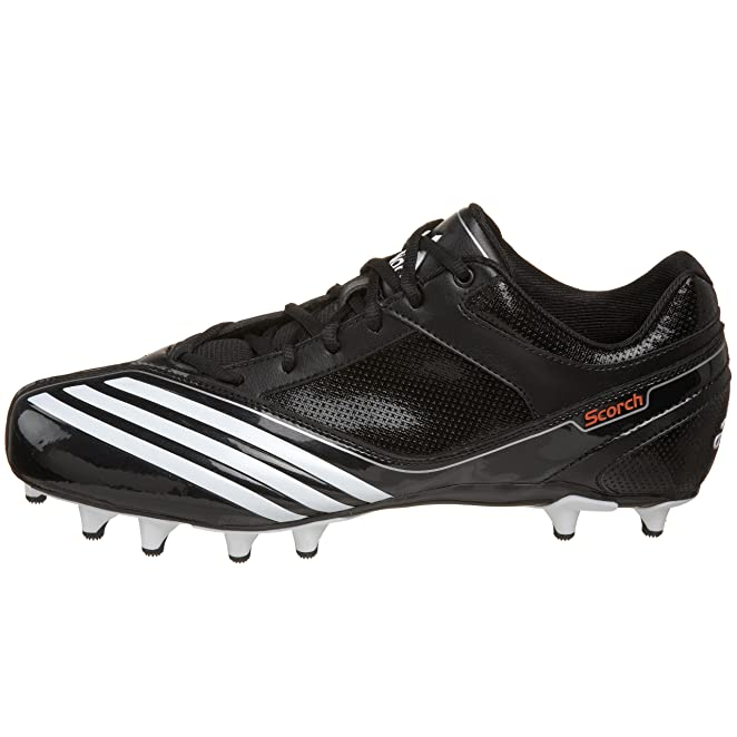 Amazon.com | adidas Men's Scorch Lightning Fly Low Football Shoe,  Black/Running White/Black, 11.5 D US | Football