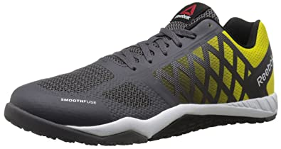 Reebok Men's Ros Workout TR Training Shoe, Ash Grey/Yellow/Spark/Black