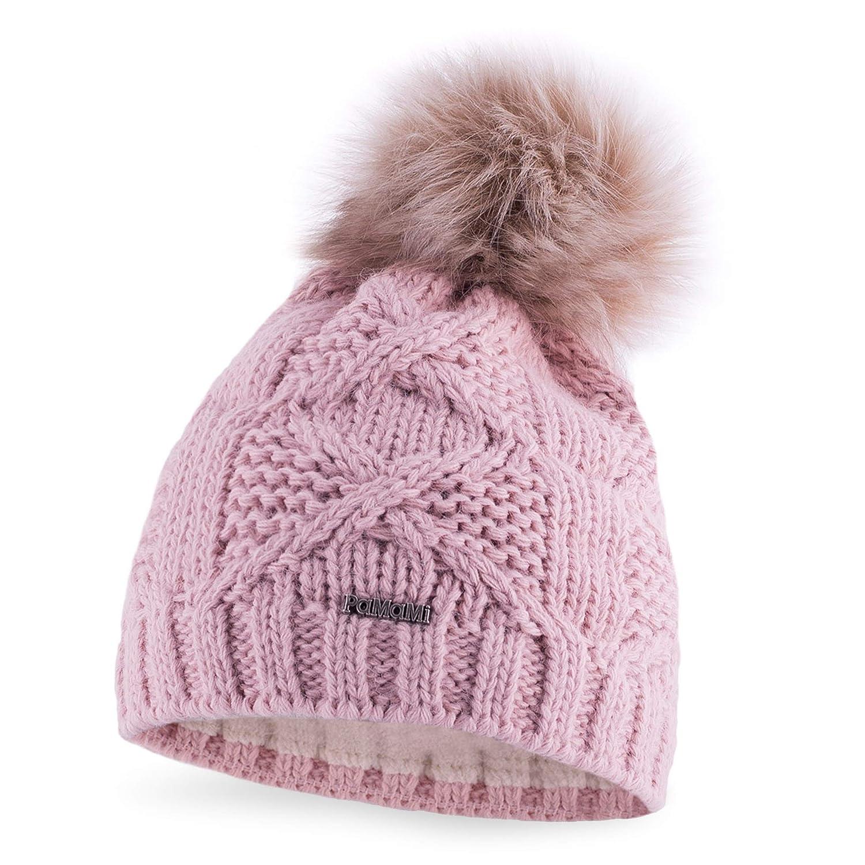 191ad21077c PaMaMi® Women s Pom Pom Beanie Hat