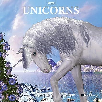 Calendario de pared grande 2020, con diseño de unicornios de ...