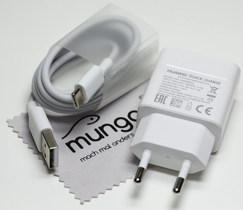 Cargador Rapido para original Huawei HW-059200EHQ 2A QC + cable de carga tipo-C USB para Huawei Honor 8, Mate 9, P9 (Plus), P10 (Plus), Nova Plus con ...