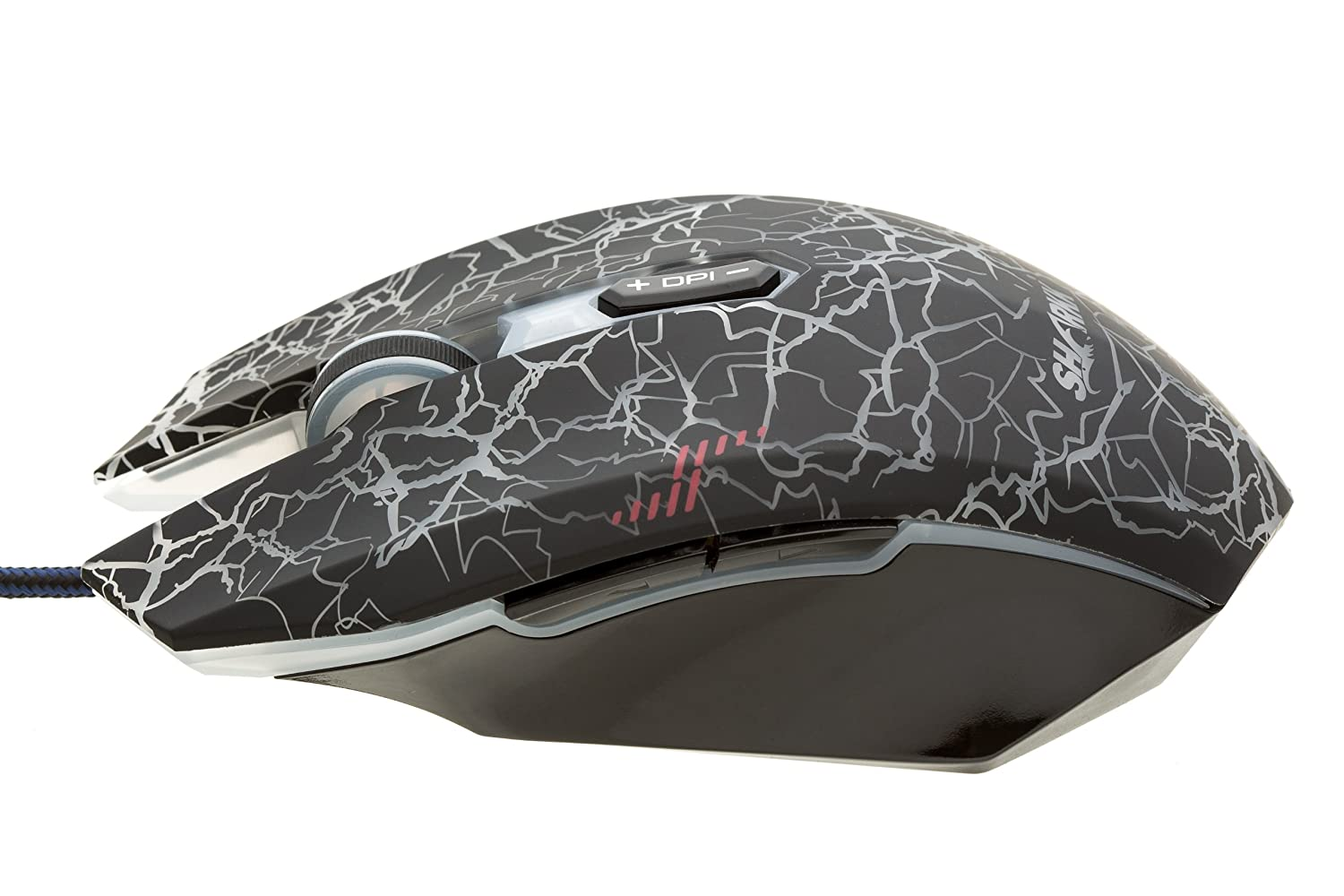 Sharkk Gaming Mouse 7 Programmable Buttons With 5 User Razer Naga Hex Mmo 2014 Hexagram V2 Free Pad Profiles Up To 2000 Dpi Omron Micro Switches Computers Accessories