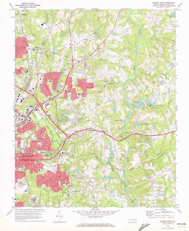 Amazon.com : YellowMaps Raleigh East NC topo map, 1:24000 ...
