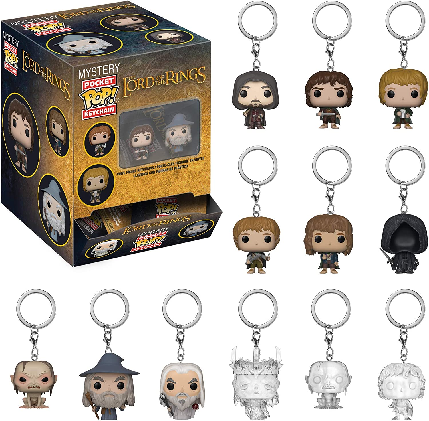 THE LORD OF THE RINGS FUNKO POP MYSTERY KEYCHAIN POCKET 1 PERSONAGGIO A SORPRESA