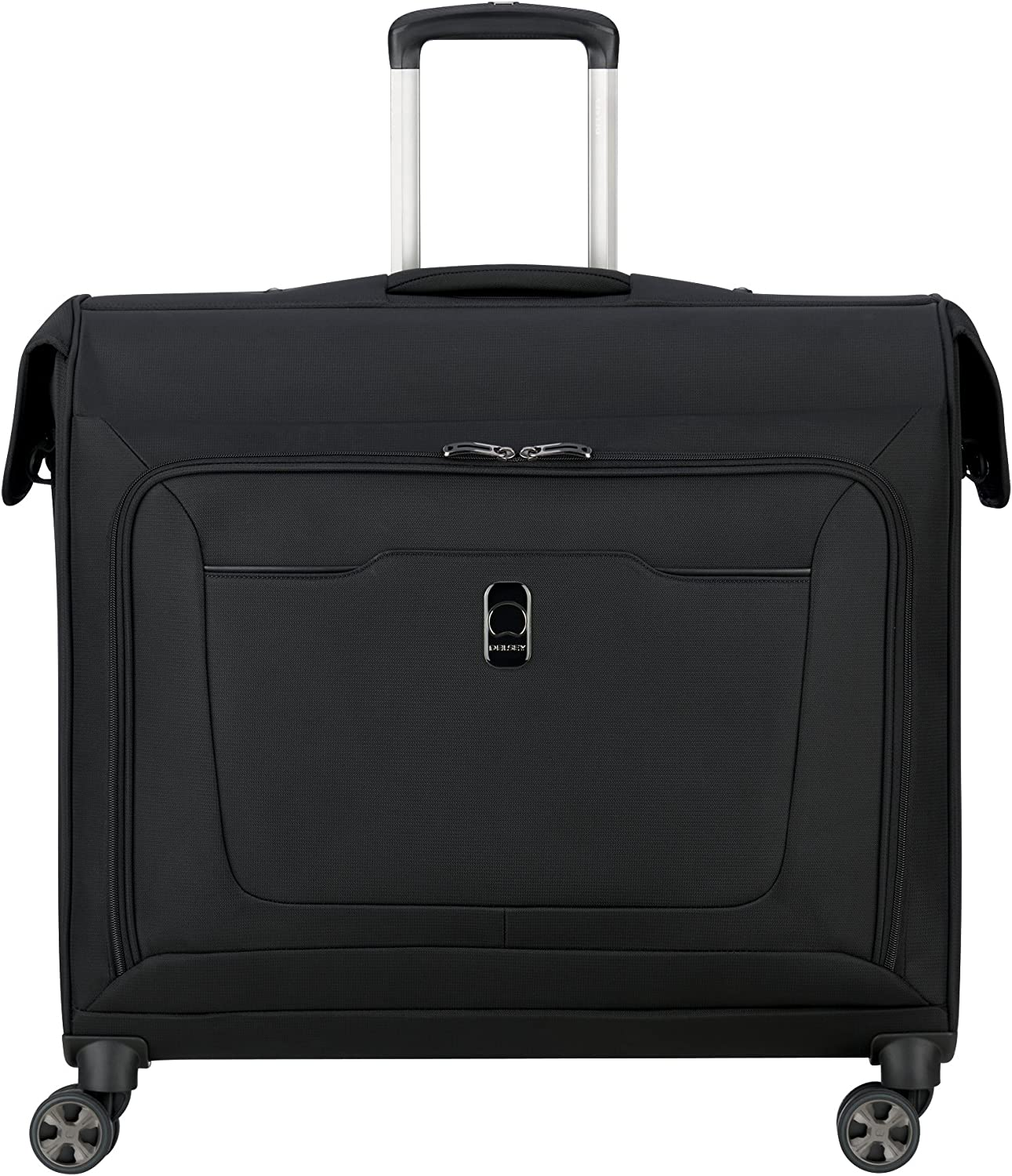 DELSEY Paris Hyperglide Softside Garment Travel Bag with Spinner Wheels, Black, One Size